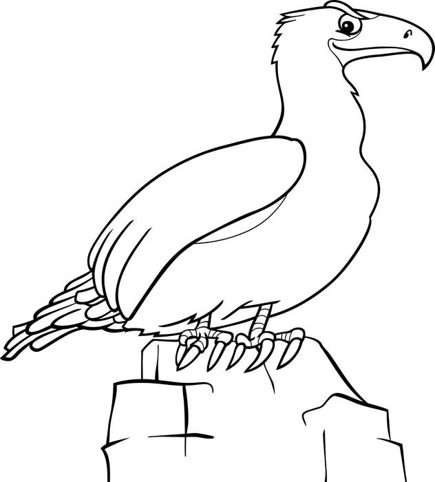 Cuadro en Lienzo Dibujos animados águila de libro para colorear ...