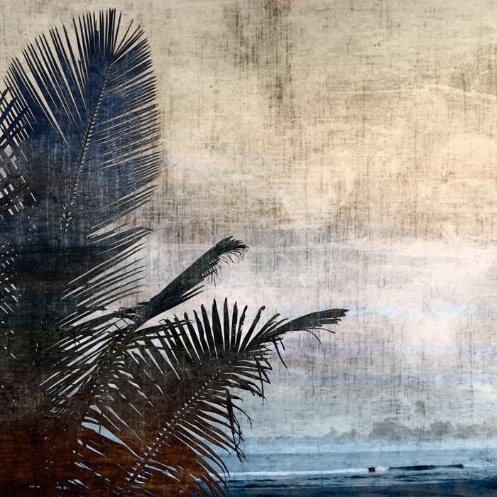tableau sur toile grunge palmier 2 pixers nous vivons pour changer. Black Bedroom Furniture Sets. Home Design Ideas