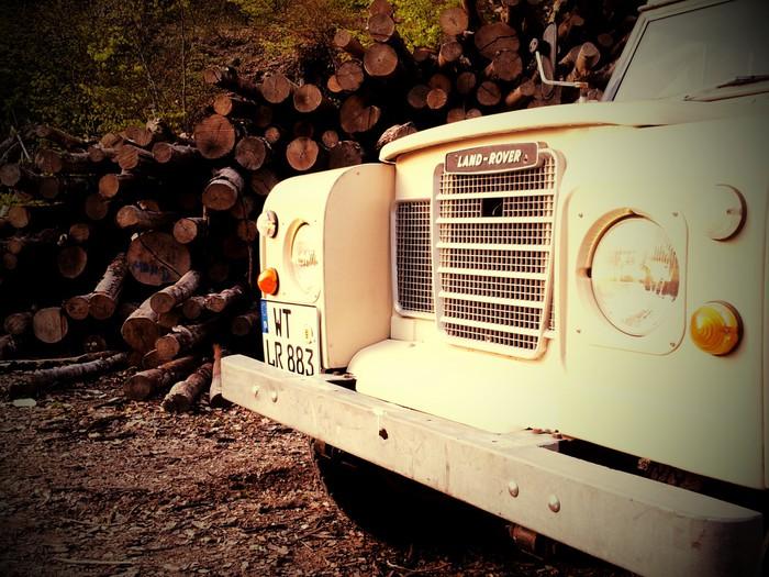 Vinylová Tapeta Land Rover Series 3 - Na cestě
