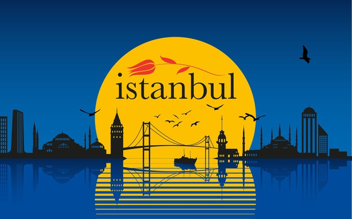 Vinylová Tapeta İstanbul silueta - Střední Východ