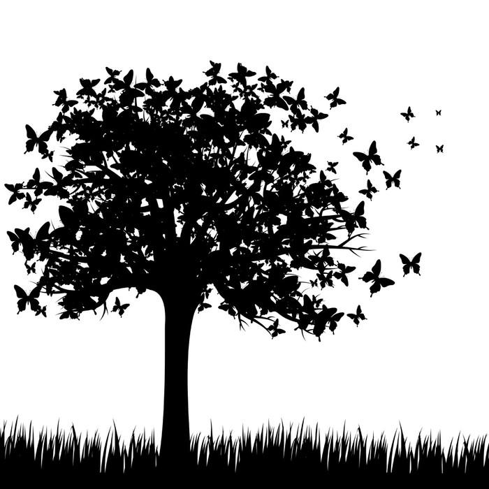Papier peint motifs papillons arbre pixers nous vivons pour changer - Papier peint motif arbres ...