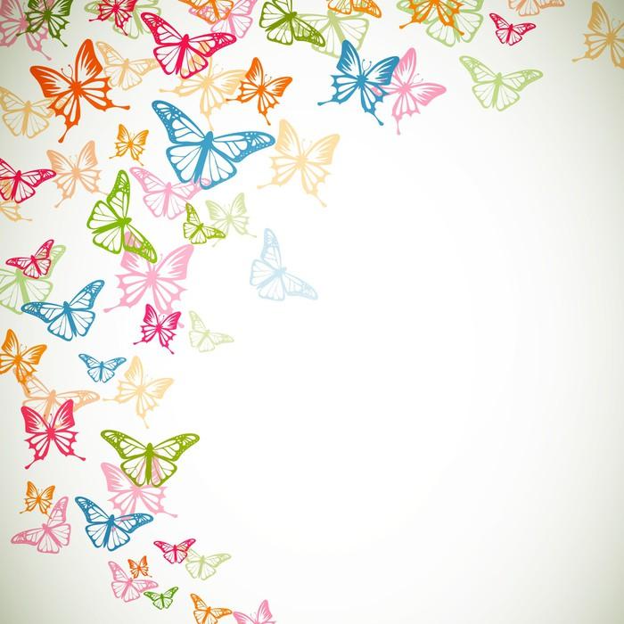 Carta da parati vector sfondo con farfalle colorate for Sfondi con farfalle