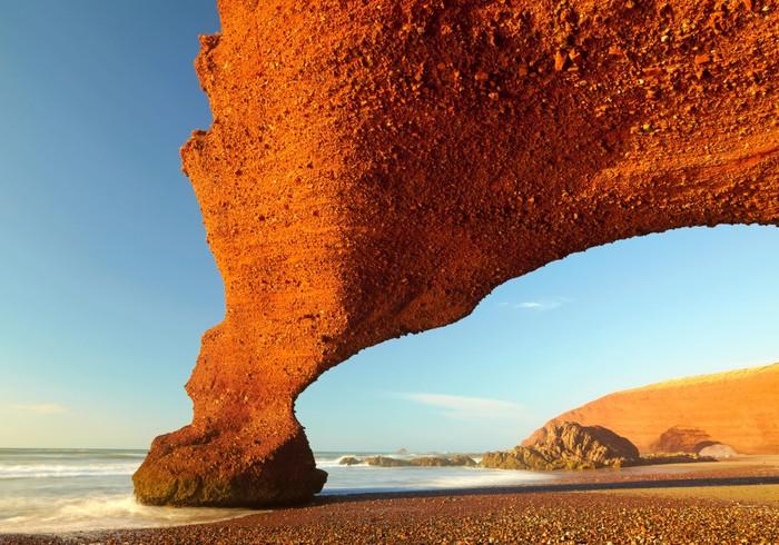 Vinylová Tapeta Červené oblouky na atlantském pobřeží oceánu. Maroko - Afrika