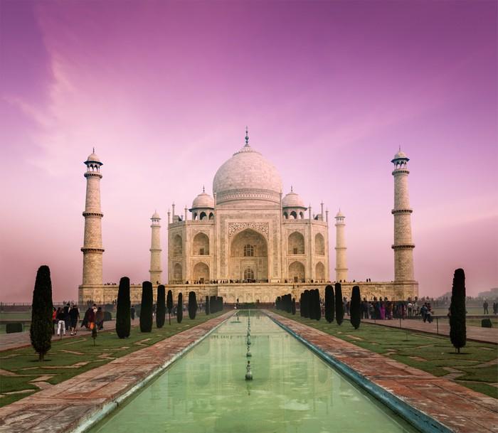 Vinylová Fototapeta Taj Mahal na západ slunce, Agra, Indie - Vinylová Fototapeta