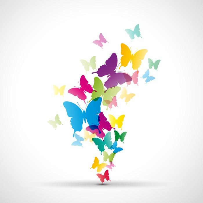 Ikea Küche Hintergrund: Fototapete Abstrakt Hintergrund Schmetterlinge # Vektor