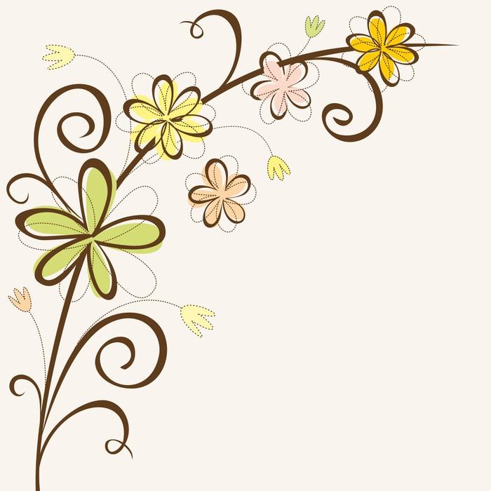 vzor přání k narozeninám Fototapeta Květinový rám. Šablony přání k narozeninám. • Pixers  vzor přání k narozeninám