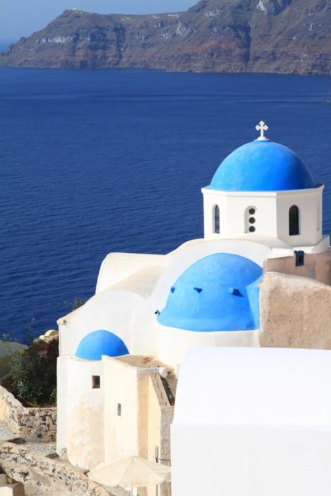 Vinylová Tapeta Klasická kostel ostrova Santorini v Řecku - Evropa