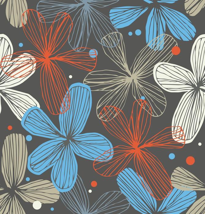 Vinylová Tapeta Lineární dekorativní bezešvé krajkové vzor -