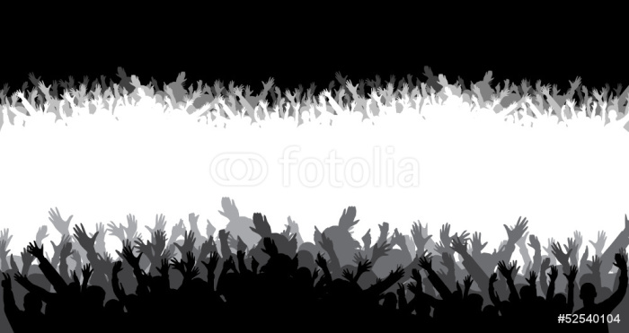 Crowd silhouette wall mural pixers we live to change for Audience wall mural