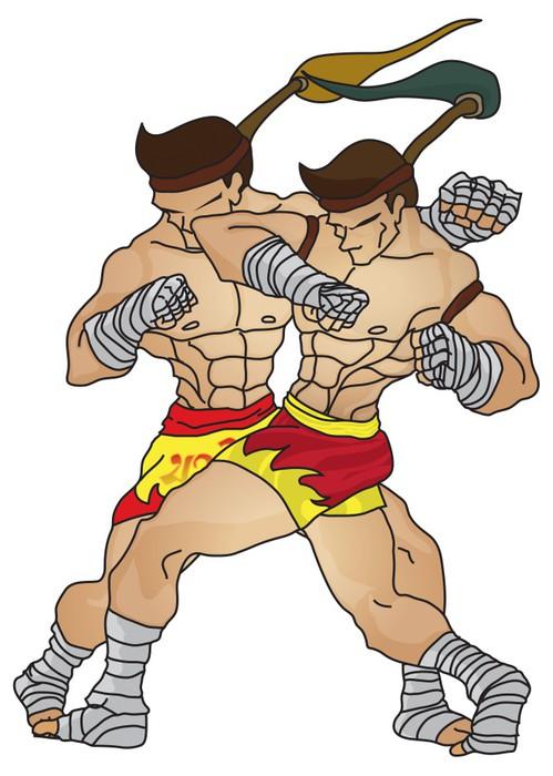 Vinylová Tapeta Muay Thai: Elbow Strike technická 1 - Individuální sporty