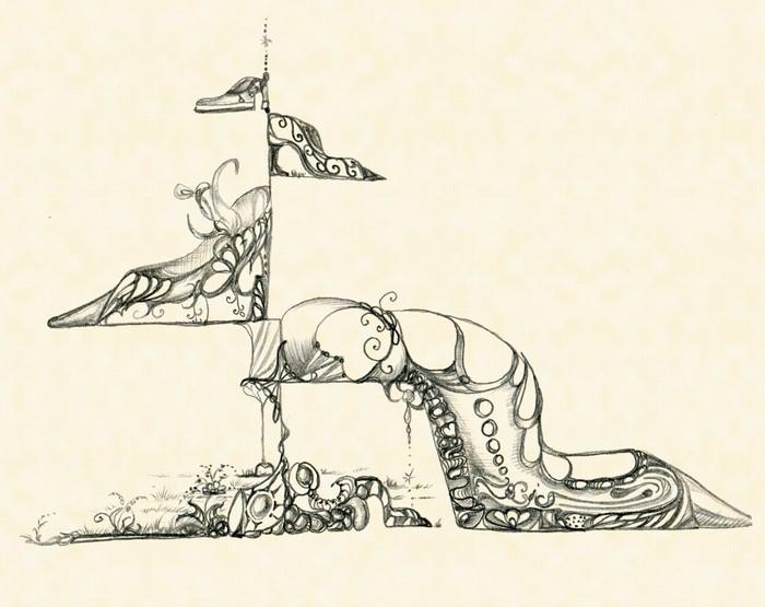 Vinylová Tapeta Původní ozdoba dámských bot - Jiné objekty