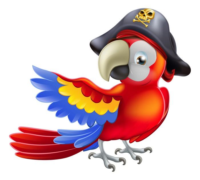Vinylová Tapeta Pirate papoušek - Nálepka na stěny