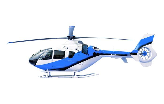 Vinylová Tapeta Modrý vrtulník ojedinělých bílým - Nálepka na stěny