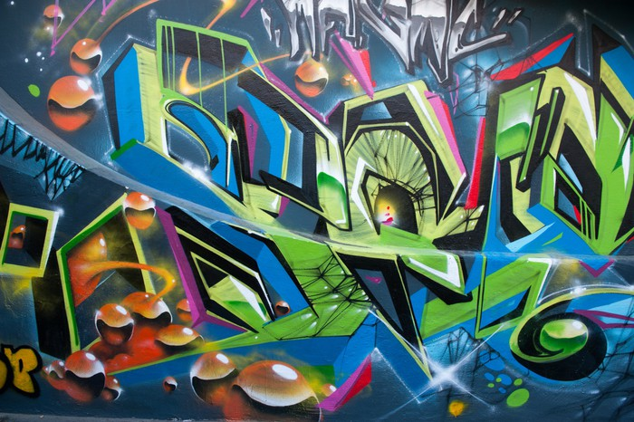 Fotobehang graffiti colore pixers we leven om te for Graffiti jugendzimmer