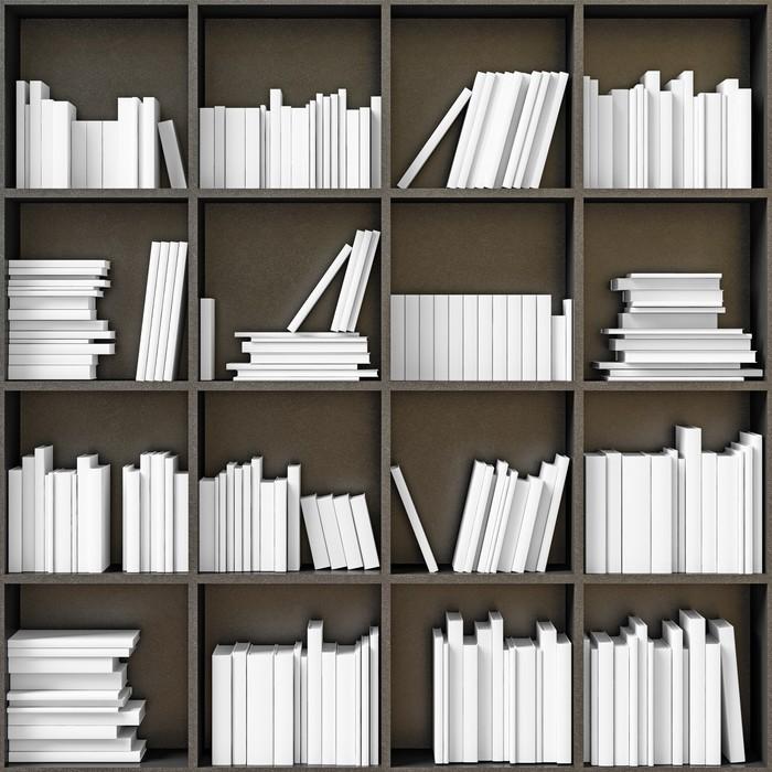 Vinylová Tapeta Regály s knihami - Knihovna