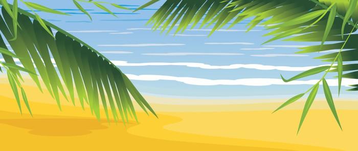 Vinylová Tapeta Palmy na pobřeží - Prázdniny