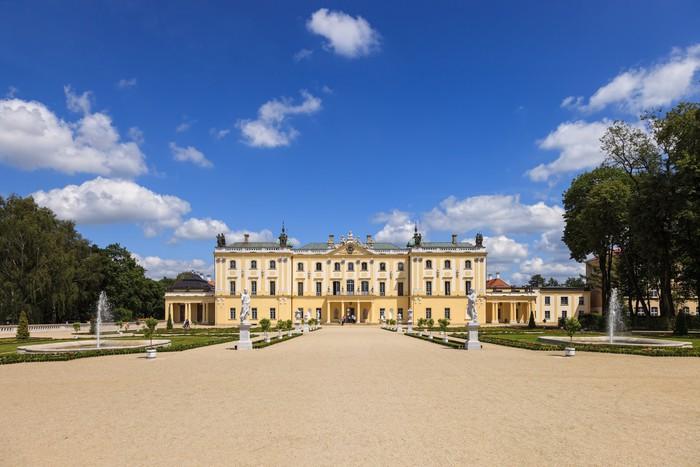 Vinylová Tapeta Zahrady paláce Branickich v Bialystoku, Polsko. - Evropa