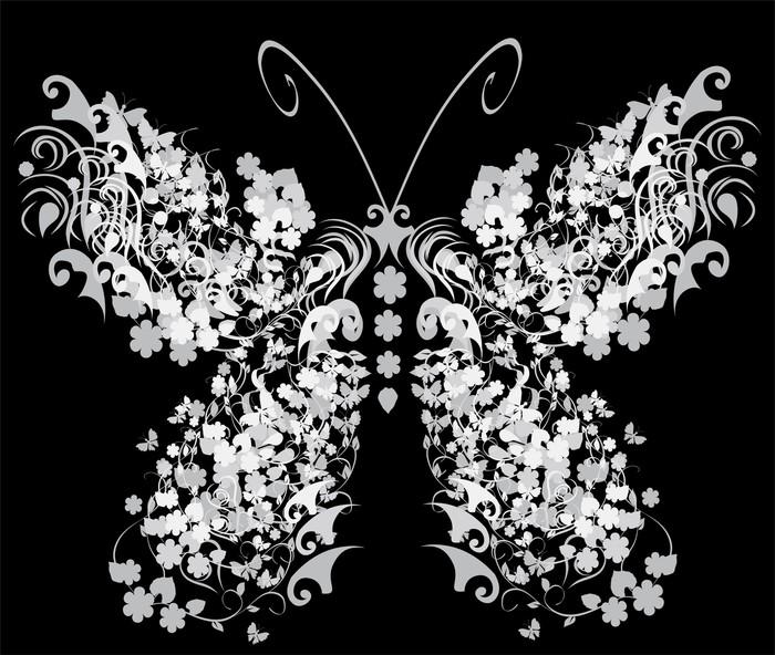 Vinylová Tapeta Vector vintage butterfly - Ostatní Ostatní