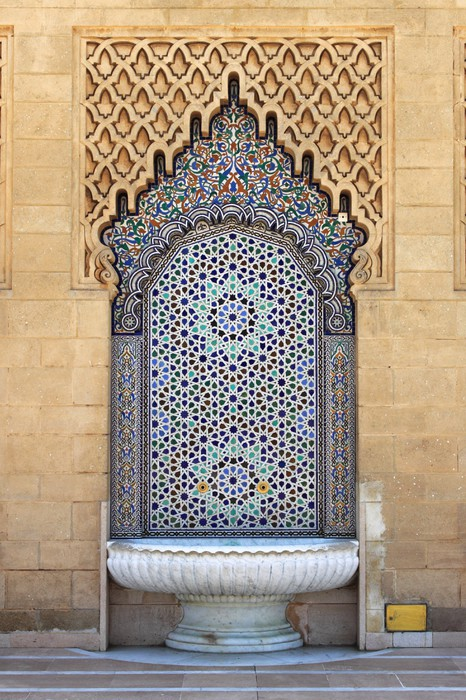 Moroccan fountain with mosaic tiles in Rabat Morocco Wall Mural