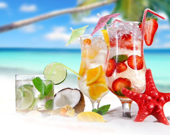 Fototapete Sommer Getränke am Strand • Pixers® - Wir leben, um zu ...