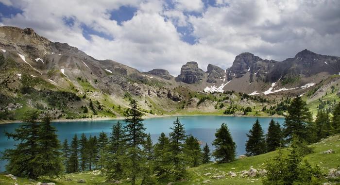 Vinylová Tapeta Obrázek Lac d'Allos. Alpes-de-Haute-PROV nosti ve Francii. - Outdoorové sporty