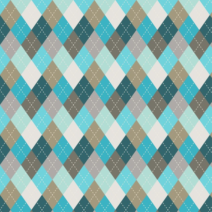 Vinylová Tapeta Seamless argyle vzor. Diamond tvary pozadí. - Pozadí