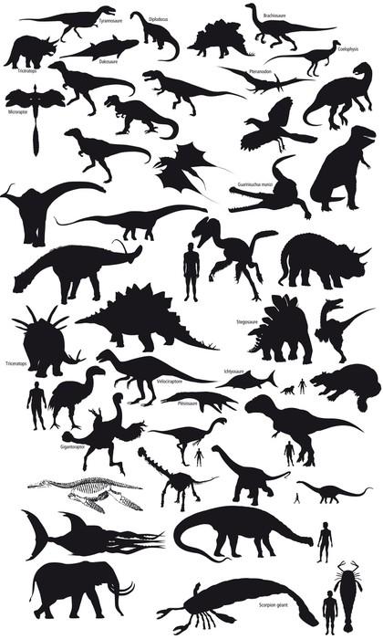 Plakát Pictos Dinosaures - Přírodní krásy