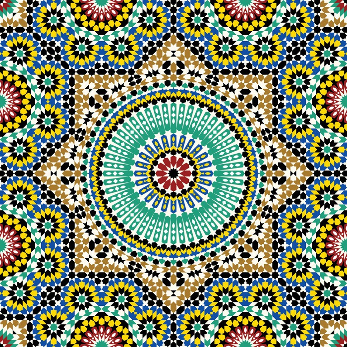 Akram Morocco Pattern Five Wall Mural Pixers 174 We Live