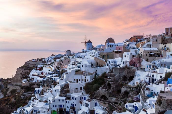 Vinylová Tapeta Západ slunce na Oia Santorini - Evropa
