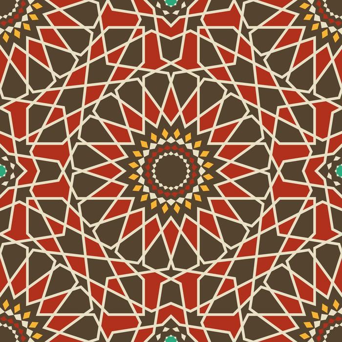 Vinylová Tapeta Arabesque bezešvé vzor v červené a hnědé - Pozadí