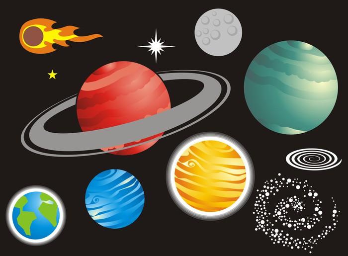 Vinylová Tapeta Universo - Meziplanetární prostor