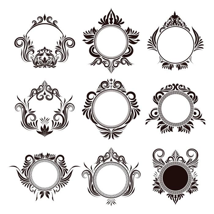 Fototapete Kreis-Rahmen, Zier • Pixers® - Wir leben, um zu verändern