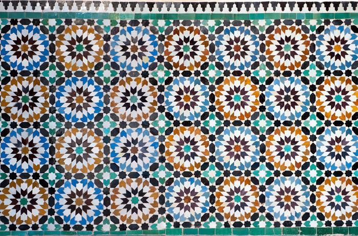 Papier peint vinyle Marocaine vintage background de carreaux - Maroc
