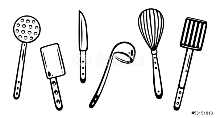 Fotomural cocina cocinero utensilios de cocina pixers - Fotomural para cocina ...