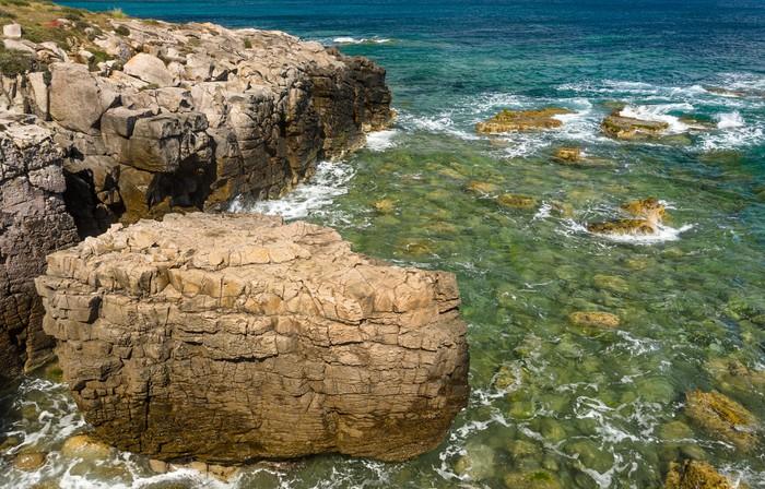 Vinylová Tapeta Sardinie Carloforte, útes - Prázdniny