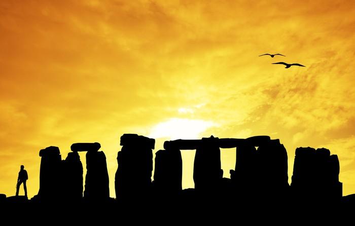 Vinylová Tapeta Stonehenge silueta při západu slunce - Evropa