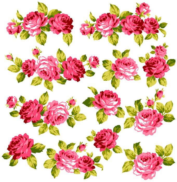 Vinylová Tapeta 薔薇 の 花束 - Květiny
