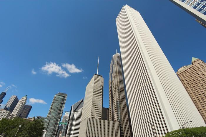 Vinylová Tapeta Mrakodrapy v centru Chicaga, Illinois - Amerika