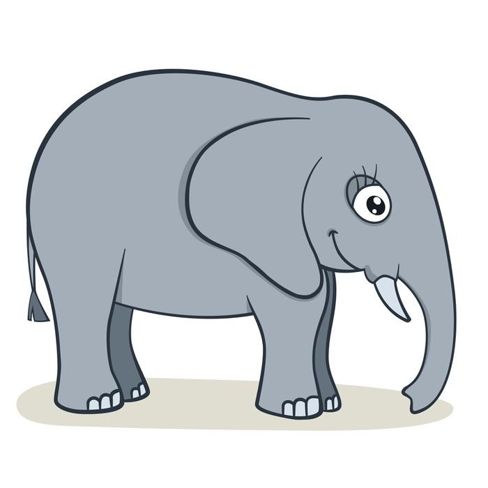 Poster cartone animato elefante pixers viviamo per il