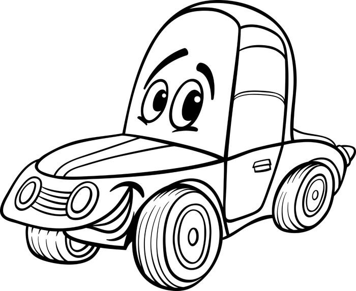 Vinilo Pixerstick Ilustración de dibujos animados de coches para ...
