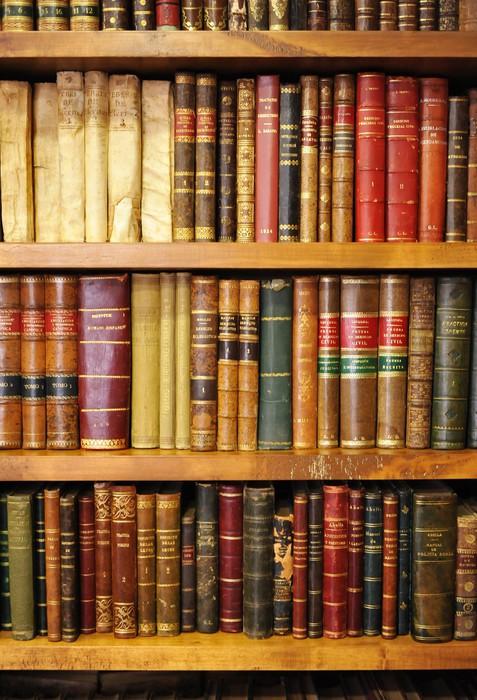sticker vieux livres de biblioth que pixers nous vivons pour changer. Black Bedroom Furniture Sets. Home Design Ideas