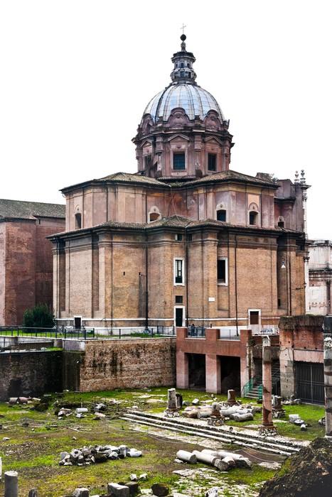 Fototapeta winylowa Santi Luca e Martina kościół w Rzymie - Miasta europejskie