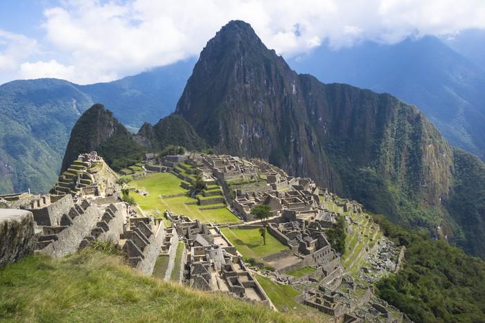 Vinylová Tapeta Starověké ruiny ztraceného města Inků Machu Picchu - Témata