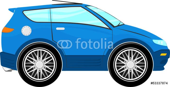 Vinylová Tapeta Funny modré auto - Na cestě