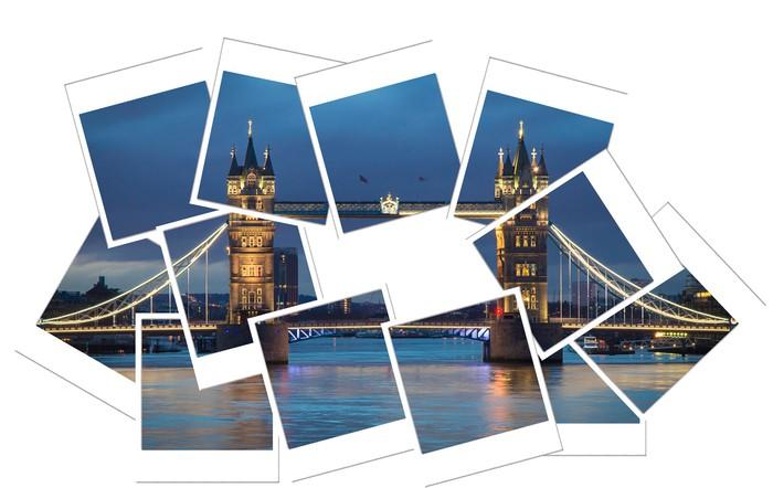 Vinylová Tapeta Tower bridge polaroid - Evropská města