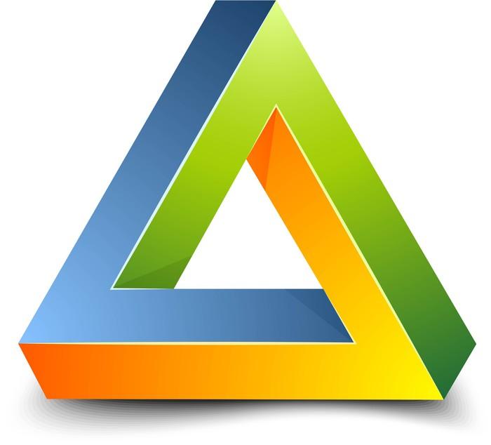 papier peint signe de triangle impossible pixers nous. Black Bedroom Furniture Sets. Home Design Ideas