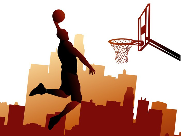 Basketball player wall mural pixers we live to change for Basketball mural wallpaper