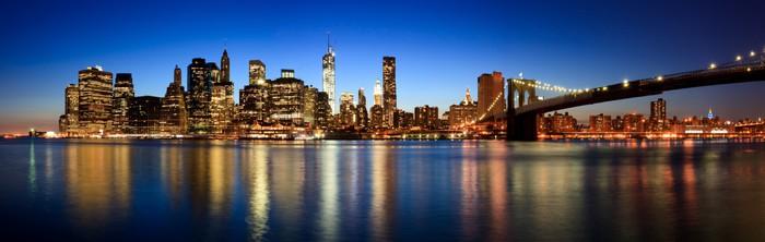 Vinylová Tapeta Panoramatický pohled na Manhattan - Amerika