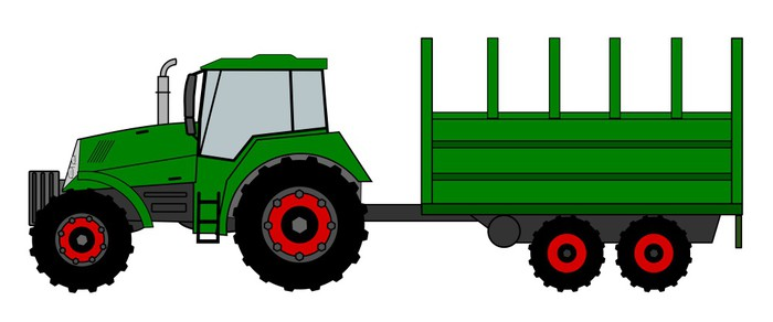 Tractor Wall Mural • Pixers® • We live to change