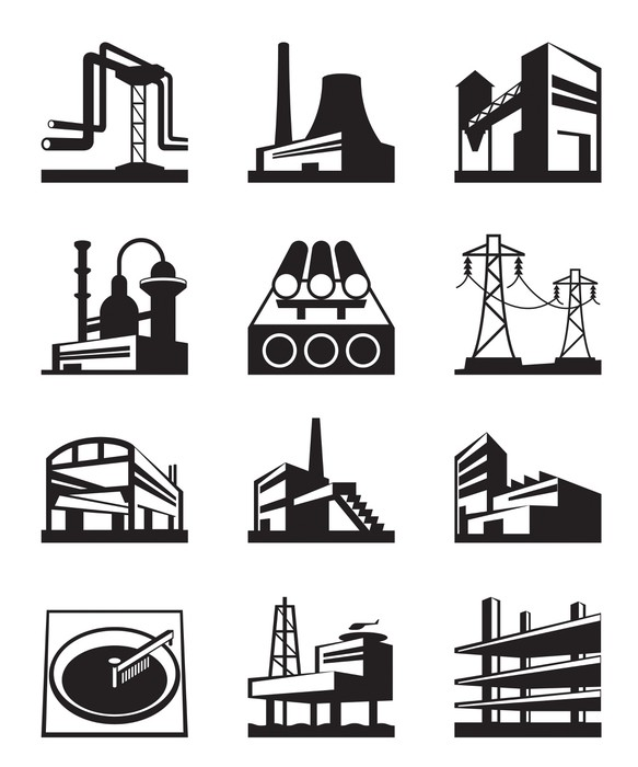 tableau sur toile diff rents types de construction. Black Bedroom Furniture Sets. Home Design Ideas